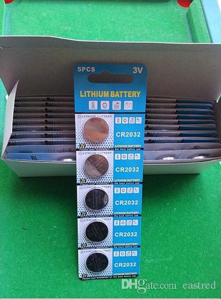 CR2032 2032 3v Lithium Knopfzellenbatterie Knopfzellen 5 Stück pro Blisterpackung, 1500 Stück 300 Karten / Los