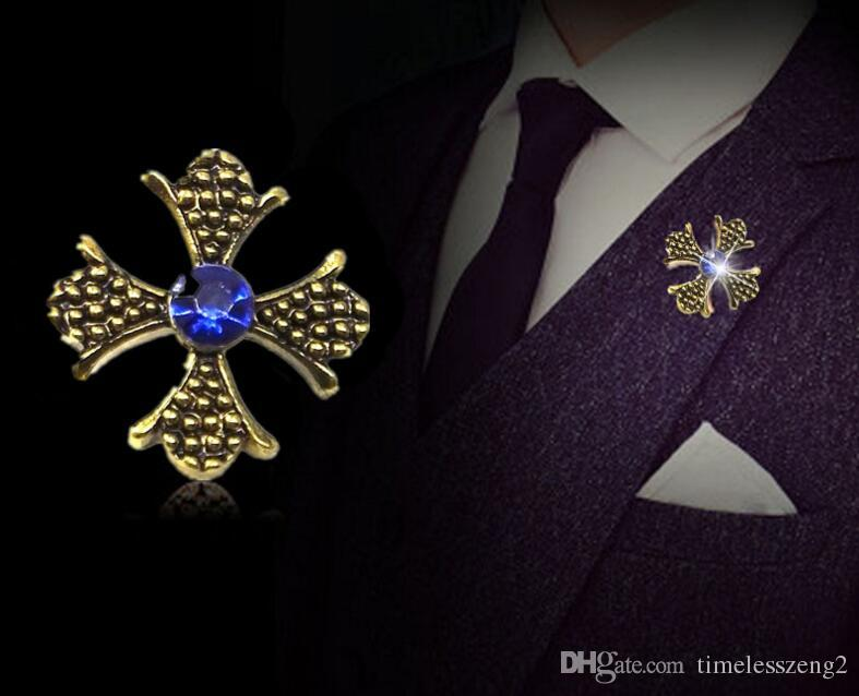 الكريستال بروش عبر النمذجة الأزياء شارة دبوس قميص استعادة نمط القديمة طوق الديكور جميل اصطناعية بروش من الماس