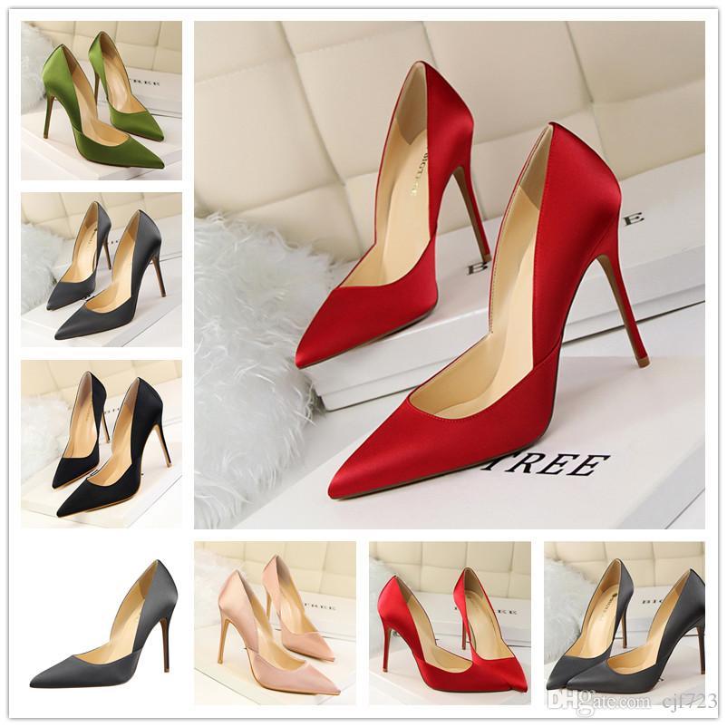 ed3e058296ac Sexy 2017 Ladies Top Women Heels Toe Pumps Wedding Lady Stiletto ...