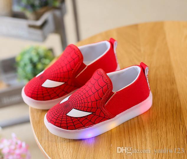 Us boyutu: 5.5-12 yeni çocuk ayakkabıları bahar spor çalışan kız moda ayakkabı çocuklar led net nefes erkek ayakkabı led
