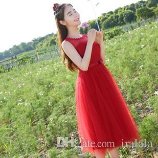 Wine Tea Length Evening Dresses