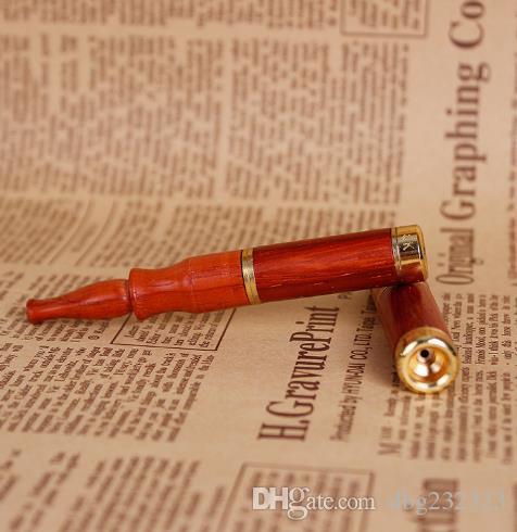 Der neue Recycling-Typ Doppelfilter Kupfer Kopf Stab Filter rot Holz Vollholz Zigarettenspitze kann für Kernholz Utensilien ausgetauscht werden