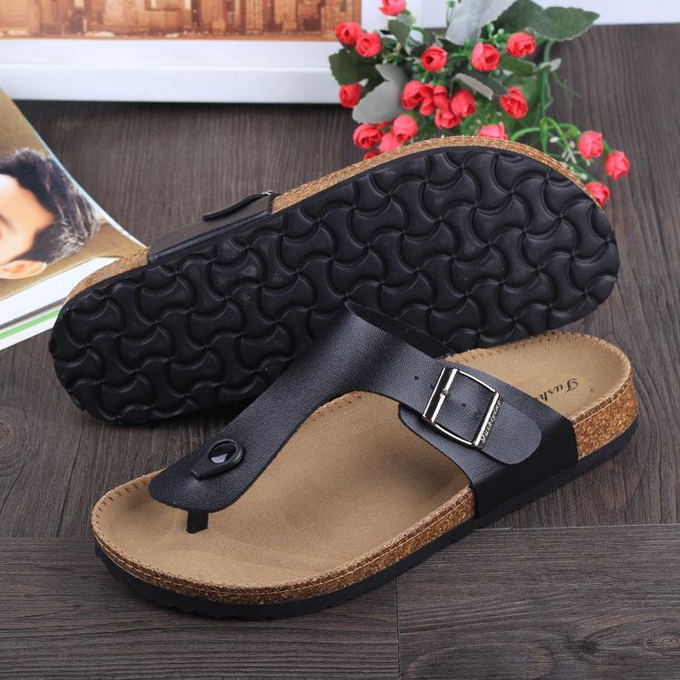 1428aefdf Wholesale Famous Brand Cork Sandals Men Women New Summer Flip Flops Solid  Color Platform Shoes Lover Beach Slippers Sandalia Feminina Shoes For Sale  Womens ...