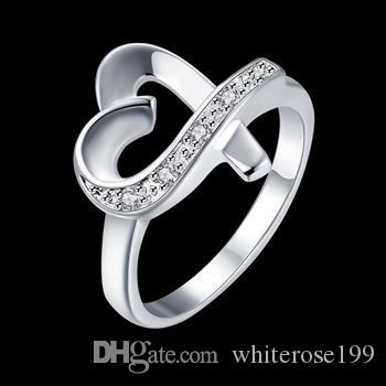 Wholesale - Retail lowest price Christmas gift, new 925 silver fashion Ring R36