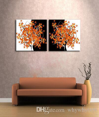 Beautiful Home Decoration artwork abstract art Maple tree oil painting on canvas fine wall art
