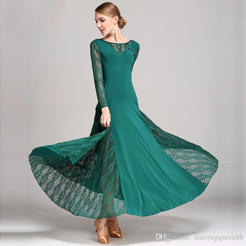 b7e76da4f Blue Lace Red Flamenco Dress Spanish Dance Costume Ballroom Dance ...