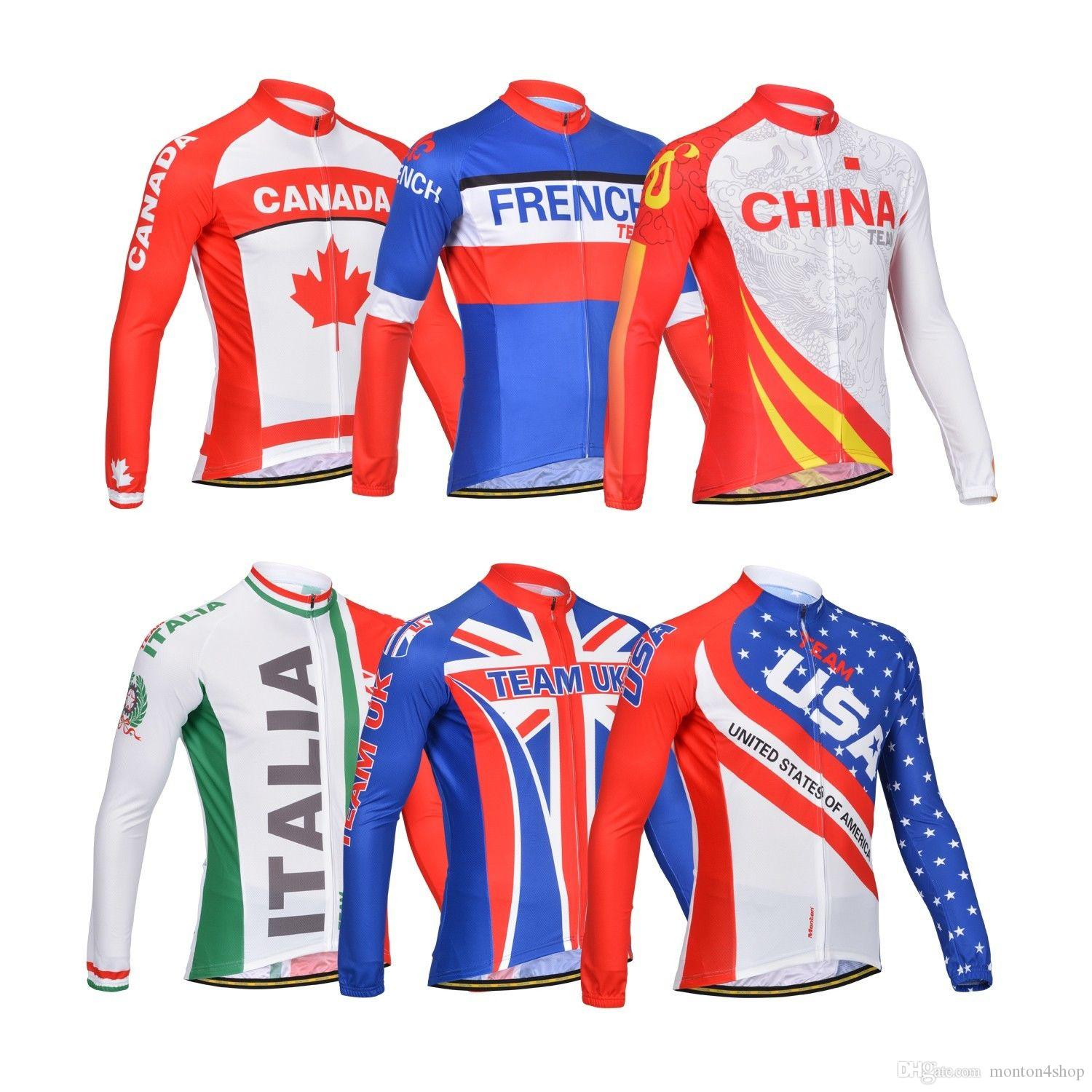 2019 Autumn Men Nationa Country Team Bicycle Exercise Cycling Clothing Thin  Wicking Cycling Jersey Long Sleeve 2XS 6XL Biker T Shirts Clothing Uk From  ... 45fb31482