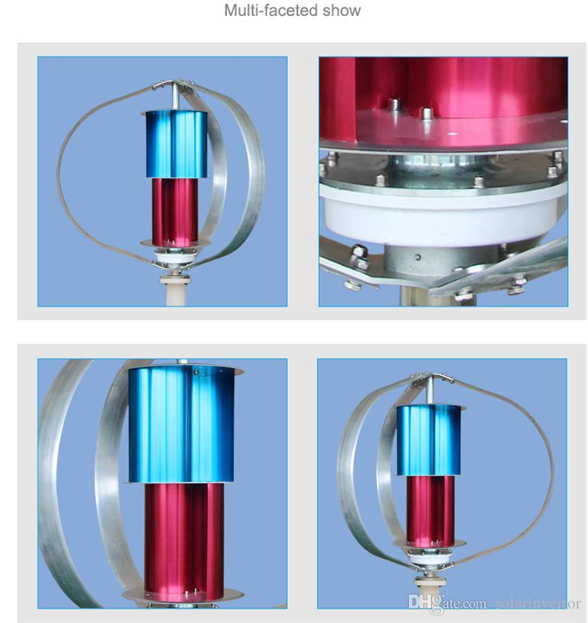 Great quality 200w 200watts 3 phase ac 12v 24v wind turbine generator vertical start with low wind speed