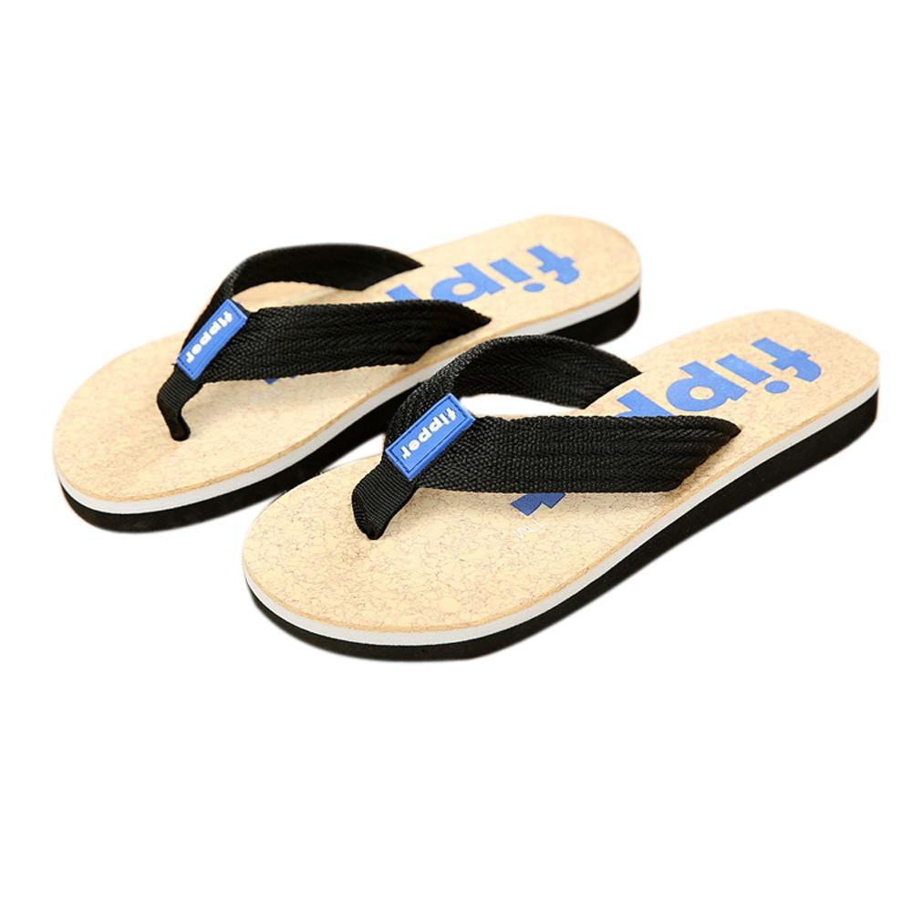 Wholesale  Man Flip Flops Slippers Men Beach Sandals Summer Indoor Outdoor Slippers Casual Summer Shoes Fashion Beach Mens Sandals Black Wedges