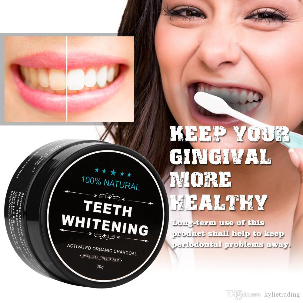 Bamboo Activated Charcoal Teeth Whitening Powder Natural Tooth