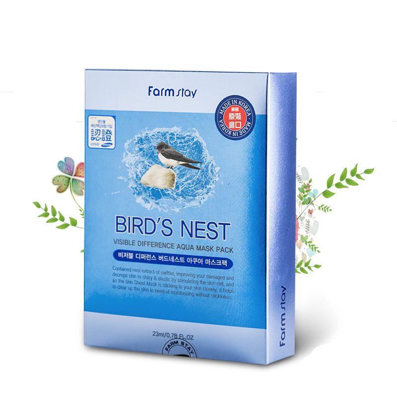 Farm Stay Skin Care Facial Mask Moisturising Masks Face Mask Sheets Korea Beauty Collagen Pearl Cucumber Aloe Bird's Nest Acerola