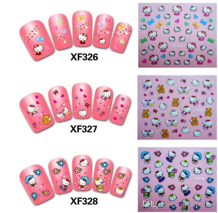 Colorful Hello Kitty Nail Stickers 3D Nails DIY Beauty Decorations Tools  For Women Nail Artist Nail Foils From Goodbeauty, $0.28| DHgate.Com