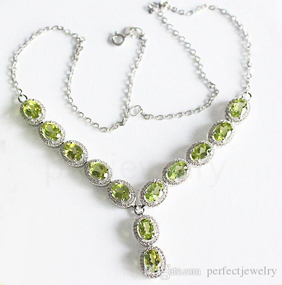 incredible peridot necklace silver proddetail