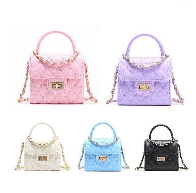Candy Color Baby Tote BAG Fashion Kid handbag Children Bags Designer Kids Girl Purse Shoulder bags Children Totes Mini Christmas Gift CM010