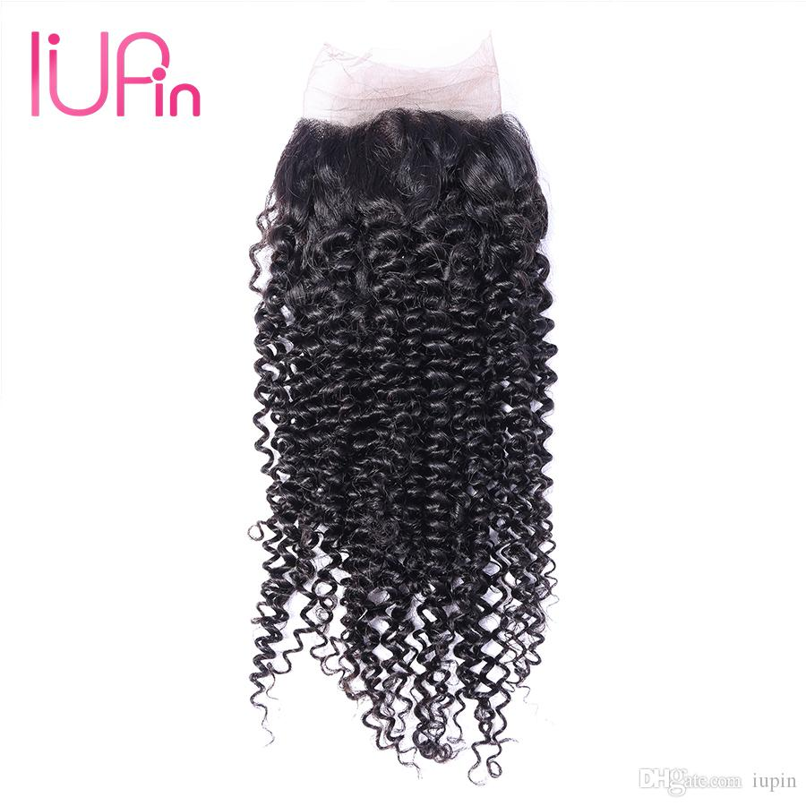 Brazilian Curly Hair Weaves 13X4 Ear to Ear Frontal Closure Water Wave Lace Frontal Closure Kinky Curly Afro Remy Human Hair