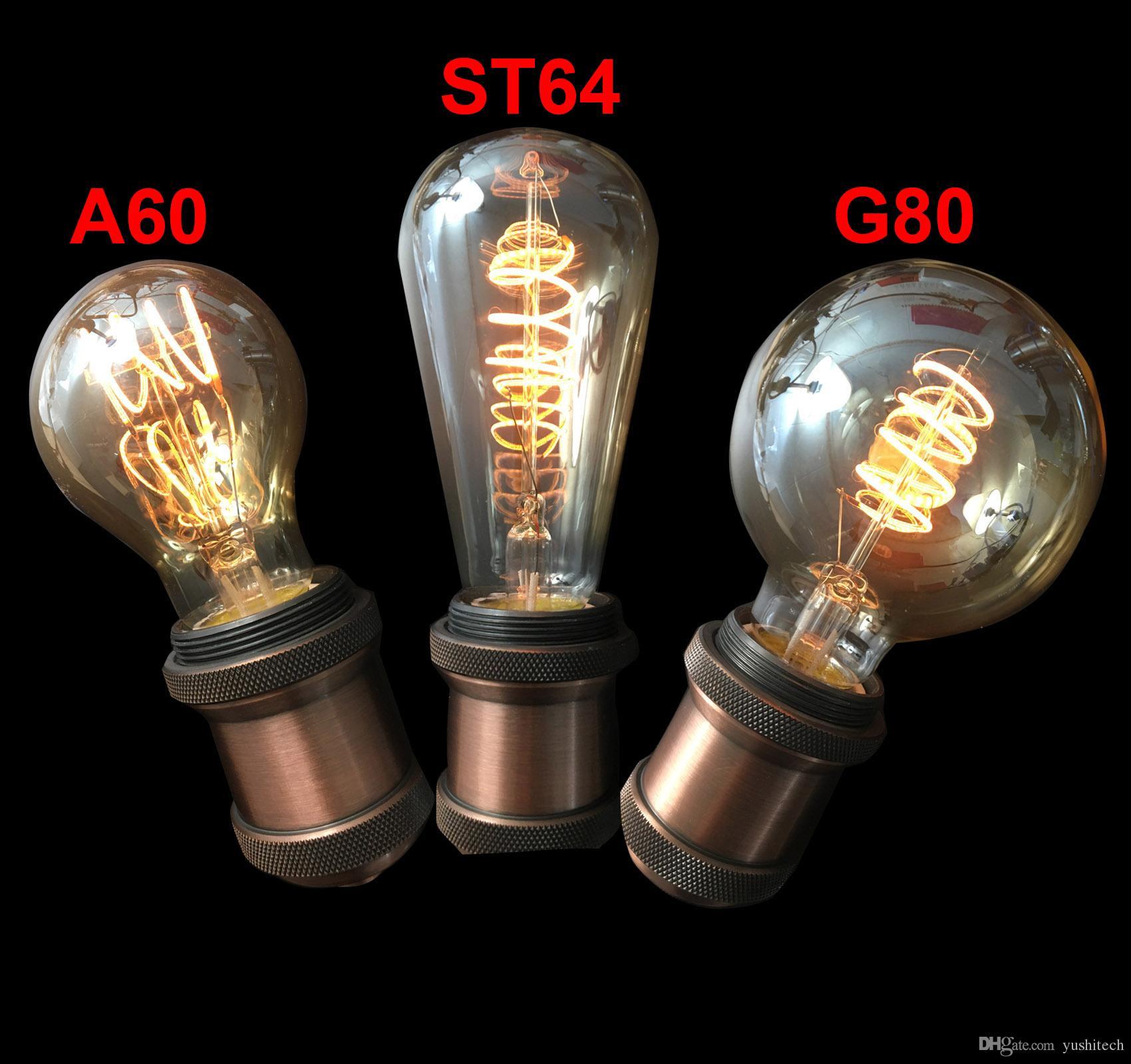 dimmable-spiral-st64-a60-g80-vintage-flexible Erstaunlich Gu10 Led 4 Watt Dekorationen
