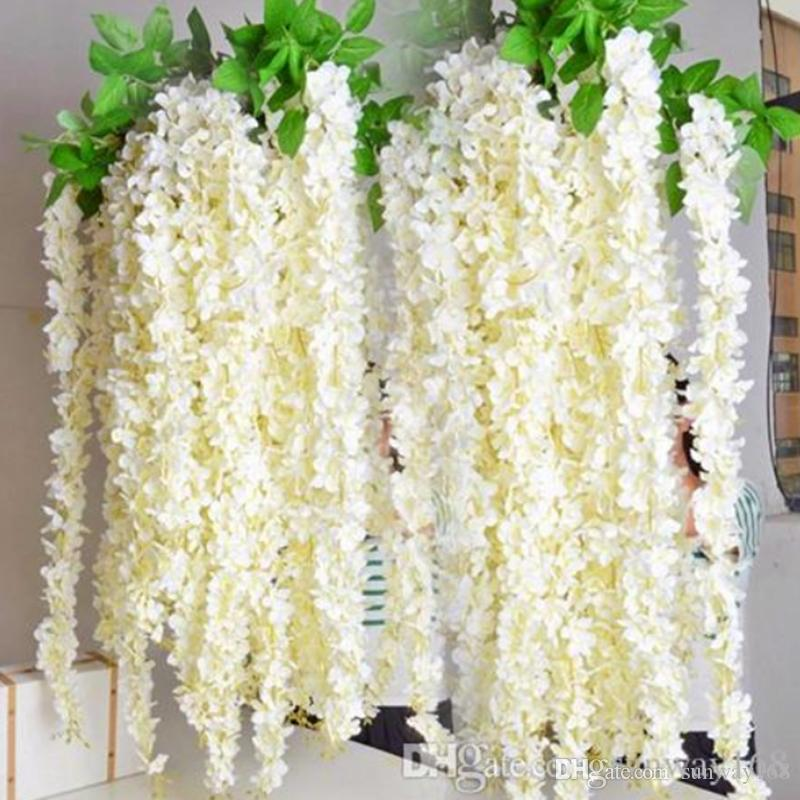Wedding party favors artificial flowers 16m silk flowers long wedding party favors artificial flowers 16m silk flowers long elegant wisteria vine rattan for wedding home christmas decorations silk flowers wedding mightylinksfo