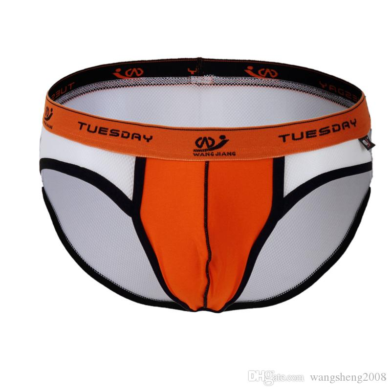 3edb4977df0 WJ 2016 New Men Sexy Transparent Fishnet Underwear Briefs Gay Clothes Panties  Green Blue Purple Black White 1008-SJ Patchwork Mesh Briefs Mens Briefs ...