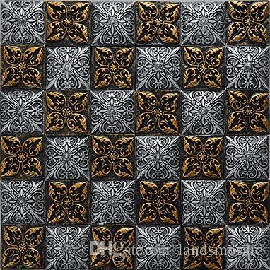 Piastrelle mosaico in resina mescola rivestimenti, impermeabile bagno  cucina camino parete, nero rustico arte vintage mosaico in resina design,  LSRN05
