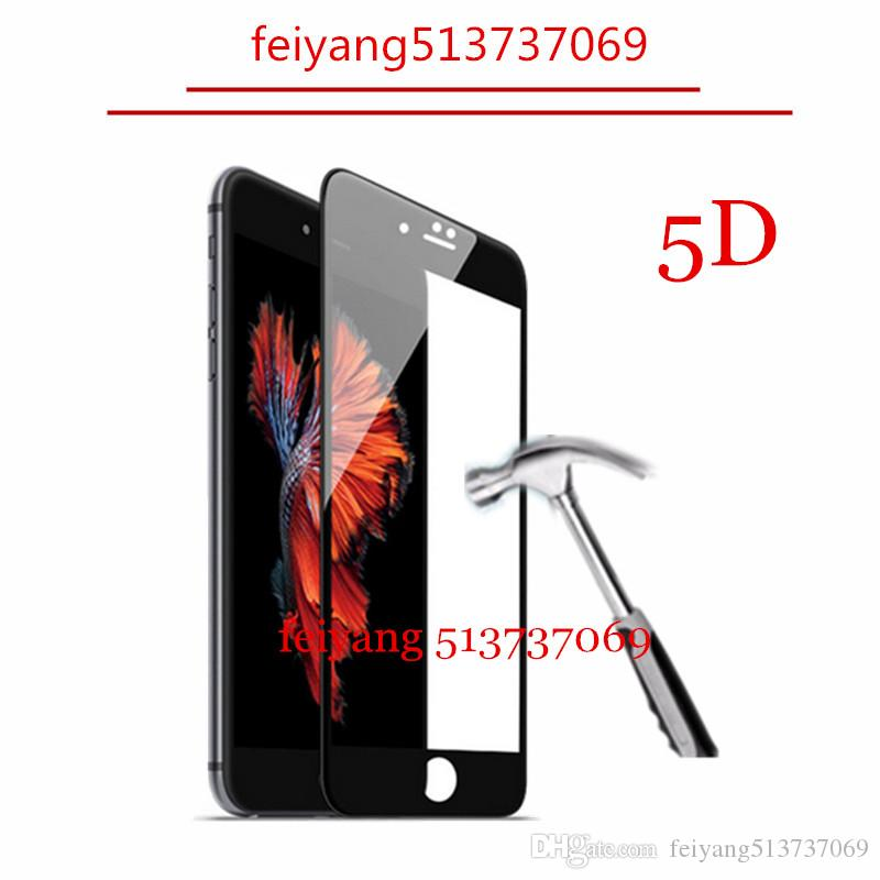5D Screen Protector Film for iPhone 6 6s Plus New 5D Cold Carving Full Cover 9H Hight Quality Tempered Glass for iPhone 6 6s 7 7 Plus