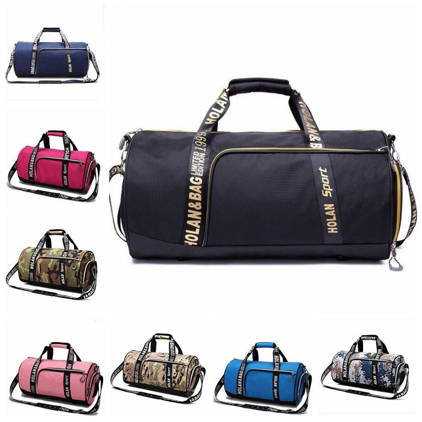 Camo Gym Bag Yoga Hand Luggage Fashion Single Shoulder Sports Training Bags Basketball Handbags Outdoor Travel Duffle Tote 1629