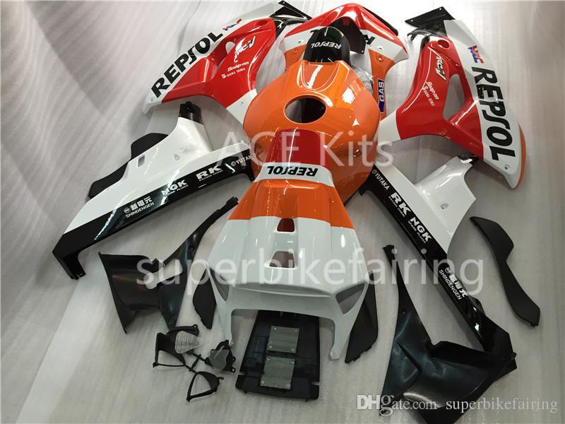 3 regalo nuevo para Honda CBR1000RR 2006 2007 1000RR 06 07 ABS Motorcycle Fairing Kit Carrocería Negro Naranja Rojo Blanco AH1