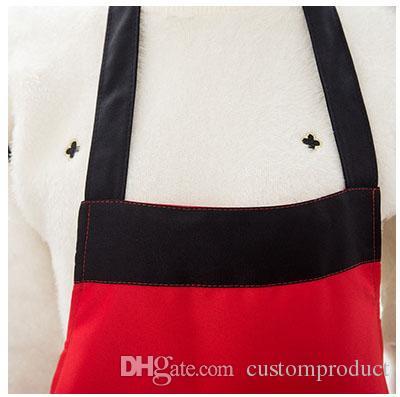 빈 앞치마 남자와 여자의 가정용 방수 오염 방지 앞치마 맞춤형 디자인 로고 부엌 앞치마 도매