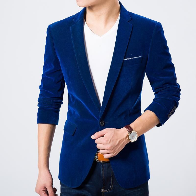 2670d6ffde38 2019 Wholesale Mens Blazer Jacket Velvet Plus Size 6XL For Weight ...