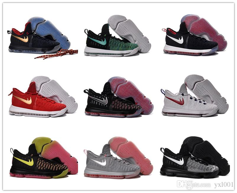 2016 Hot Sale Kd 9 Kids Basketball Shoes Boys Kevin Durant Children Top  Quality Sports Sneakers Children\u0027S Size 36 40 4e Basketball Shoes Loafers  For Men ...