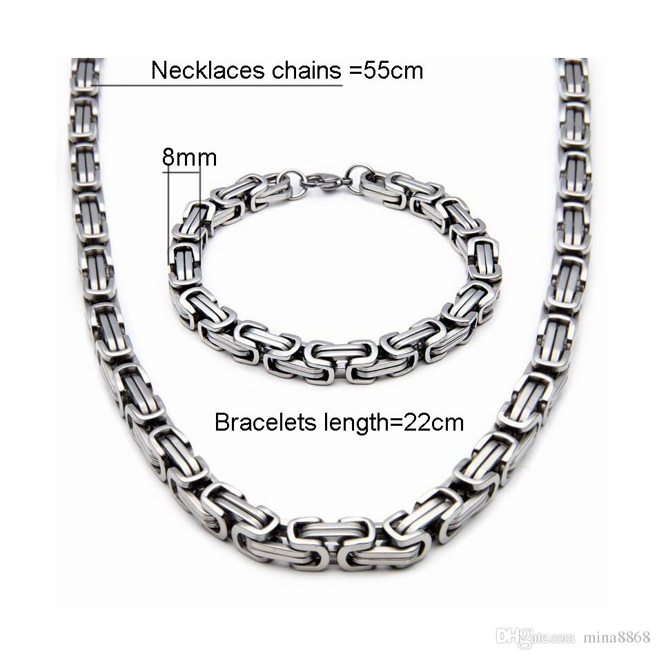 2019 Top Quality Stainless Steel Jewelry Set Silver Gold Color
