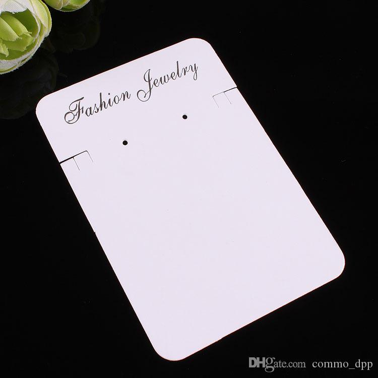 200 قطع الأبيض والبيج womenmen قلادة القلائد تغليف المجوهرات عرض بطاقات بكميات كبيرة