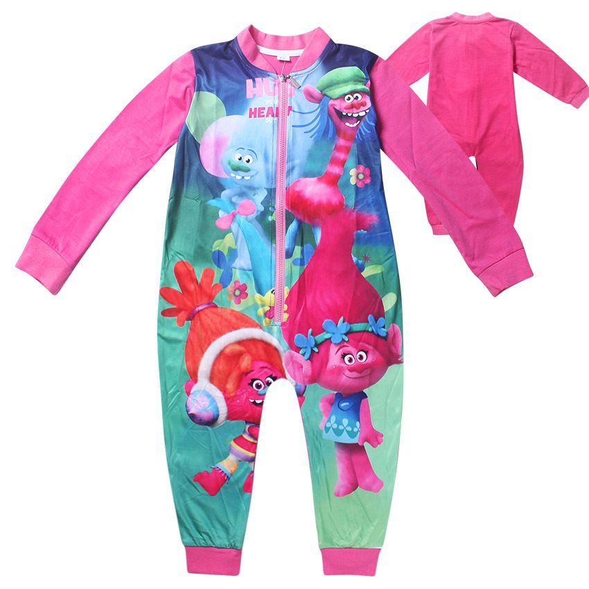 Girls Trolls Pajamas Trolls Rompers For Kids Sleepwear For Girls ...