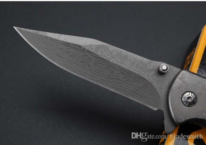 Browning Classic 338 Folding Knife Imitation Of Damascus, High quality strong and durable outdoor survival knives