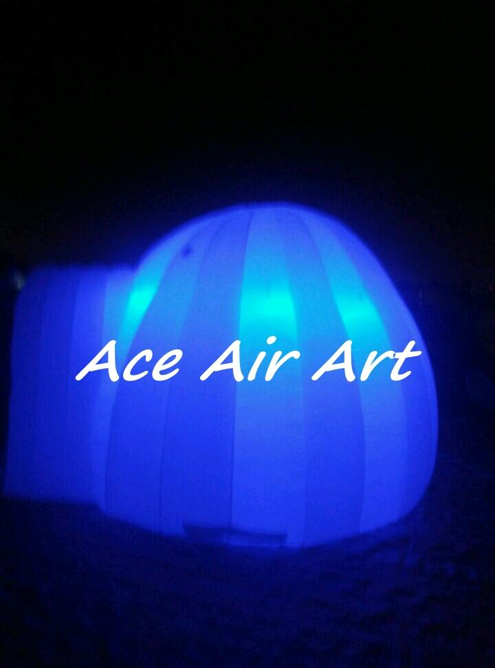 custom made led lighting inflatable iglootent/doom for event/party with a Opening Entrance for children entertainments