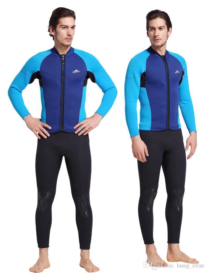 Neue ankunft 3mm neopren langarm taucherjacke professionelle wetsuit für männer 2 farben jacke nur