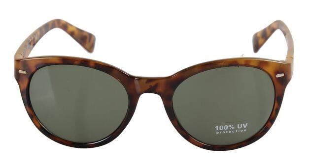 4094 패션 거리 스냅인 표범 복원 고대의 방법은 태양 안경 성격 라운드