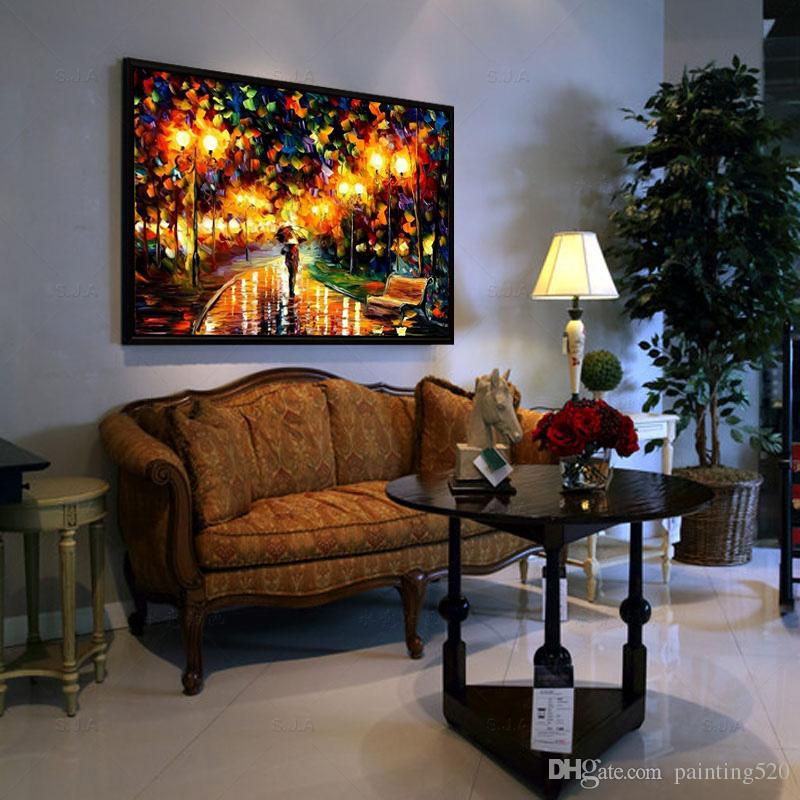 hand painted modern home simple decorative style wall canvas wall painting high quality color palette thick oil painting No Frame JL463