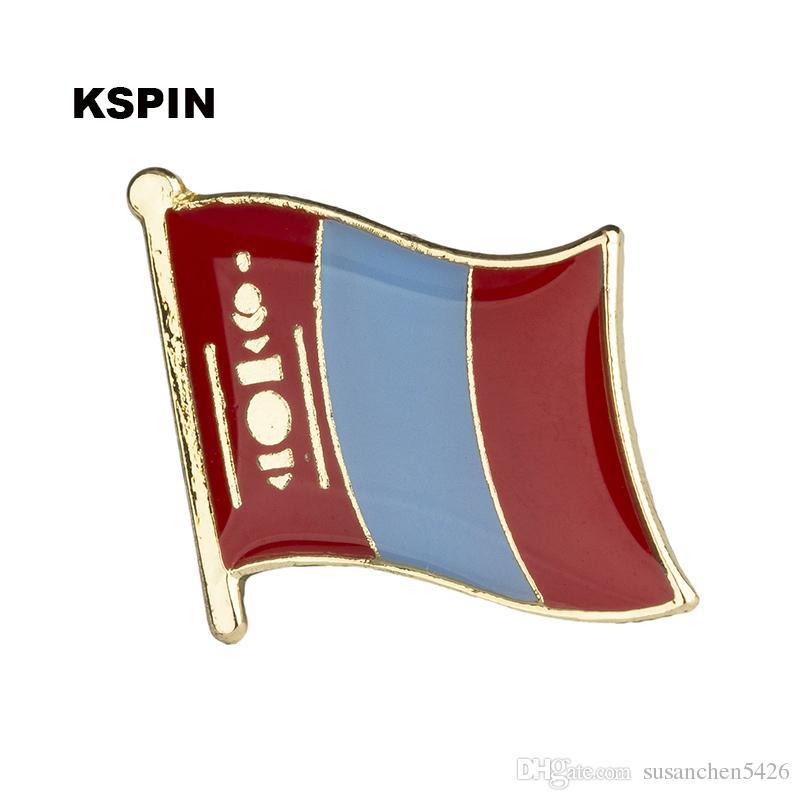 Livraison gratuite le drapeau des États-Unis en métal Drapeau Pin KS-0121