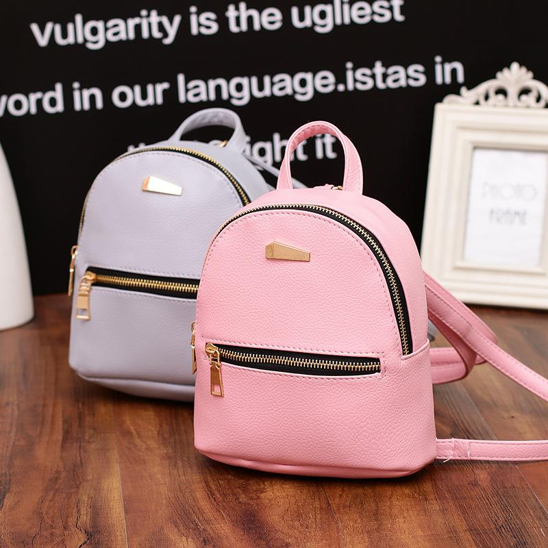 ab0899ff3a Wholesale Fashion Women Leather Backpack Cute Small Bags Mini Backpack  Female High Quality Backpacks For Teenage Girls Sac A Dos Femme College  Backpacks ...