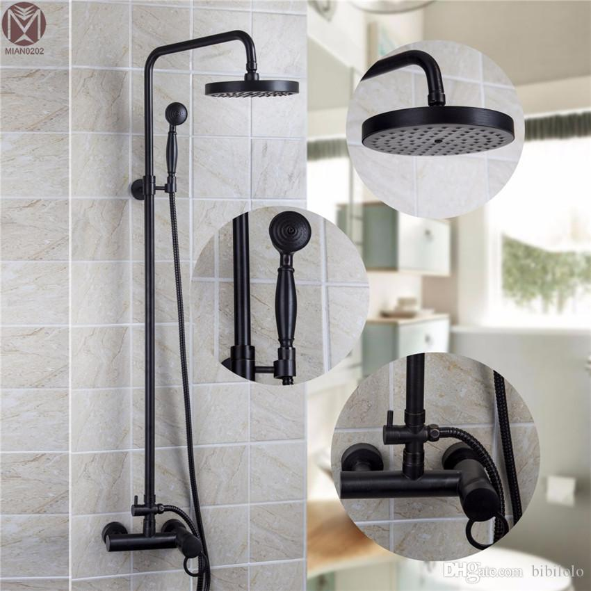 2018 Bathroom Orb Double Functions Oil Rubbed Bronze Rainfall Shower ...
