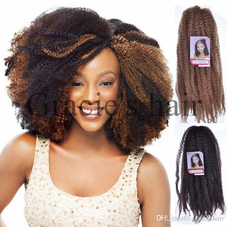 Best 18inch Synthetic Marley Braids Hair Cheap Fluffy