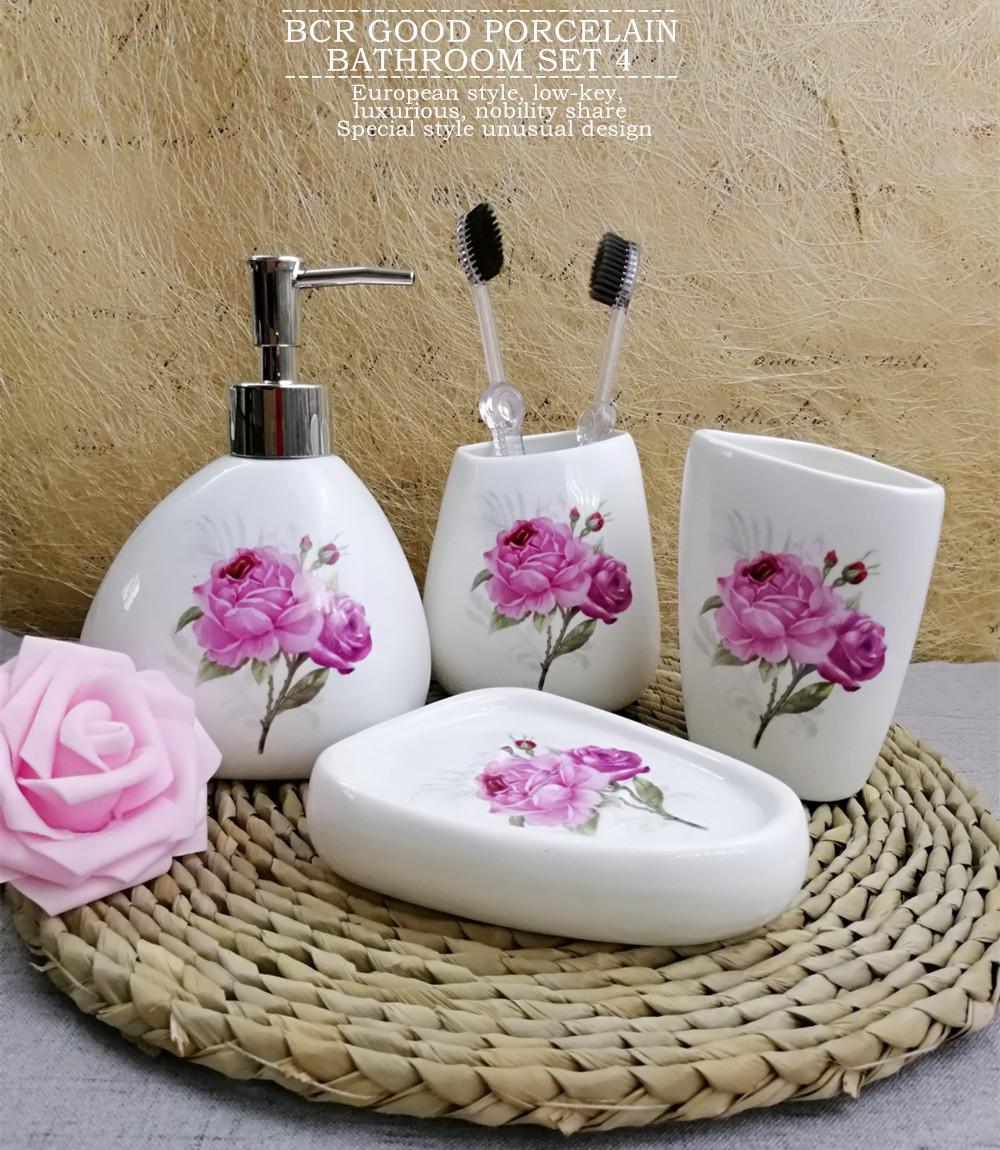 Fleur Pour Salle De Bain ~ acheter ensemble d accessoires de bain en c ramique set de salle de