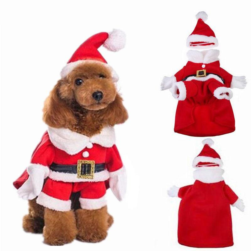 2019 Christmas Cat Clothes Pet Dog Cat Costume Santa Claus Costume Winter Christmas  Pet Coat Apparel Cotton Clothes For Cat Dog From Lucklystoreli, ... - 2019 Christmas Cat Clothes Pet Dog Cat Costume Santa Claus Costume