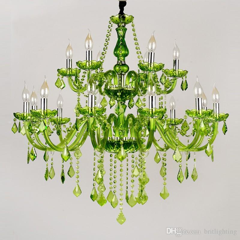 large Luxury crystal chandelier Fashion Modern Large chandelier light lustres Dining Room American Country villa stair Crystal Chandeliers