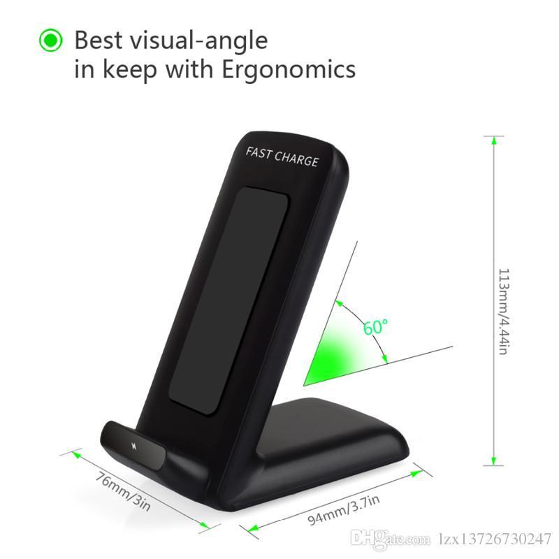 Samsung S8 için 100% Hızlı Şarj Qi Kablosuz Şarj Pad Samsung Galaxy S6 kenar artı / Note5 / S7 / S8 kenar