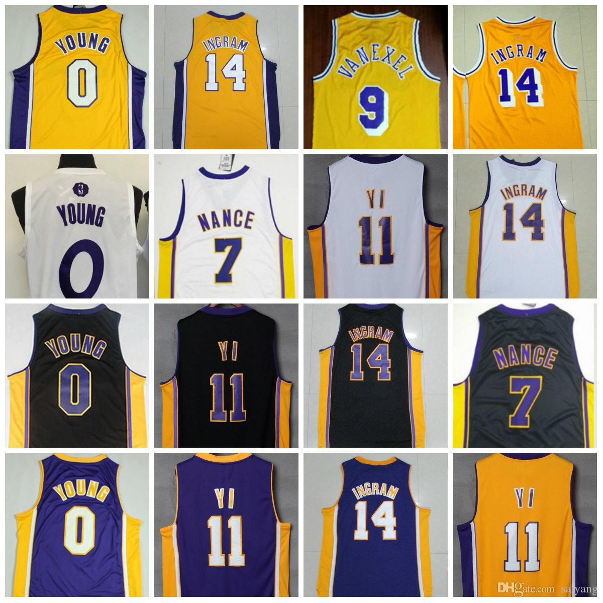 c9e71b656 ... 2017 Mens Throwback 14 Brandon Ingram 9 Nick Van Exel Jersey Yi  Hollywood 0 Nick Young ...