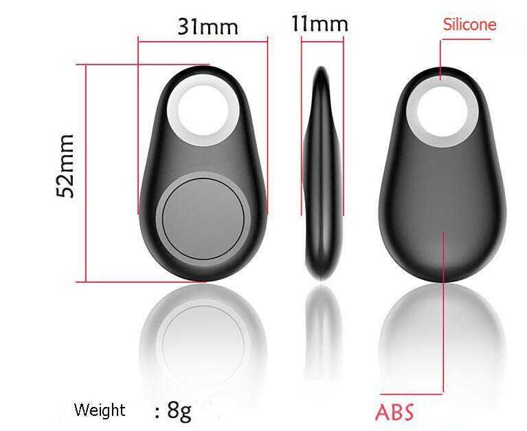 ZOOKOTO Mini GPS Tracker Bluetooth Key Finder Allarme 8g Trova oggetti a due vie bambini, animali domestici, anziani, portafogli, auto, pacchetto di vendita al dettaglio