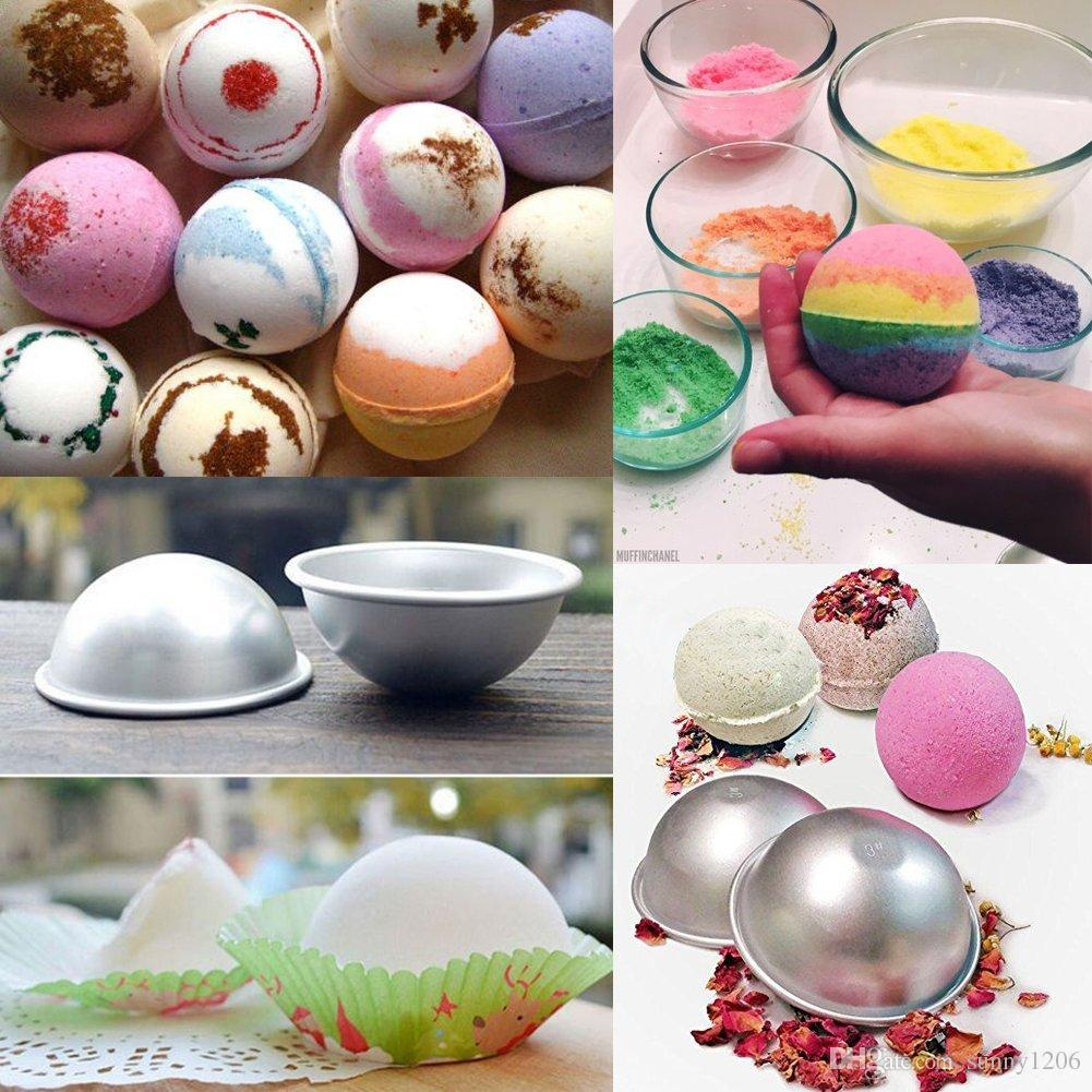 Hot 3D Aluminum Ball Sphere Cake Pan Tin DIY Baking Pastry Ball Mold Tools Mould Kitchen Molds Bath Bomb Bakeware