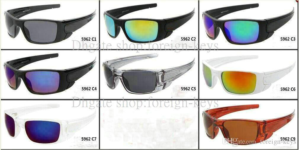 Lyxig vit ram blå lins sport solglasögon män utomhus vevaxel solglasögon gratis frakt 10 färg kan välja