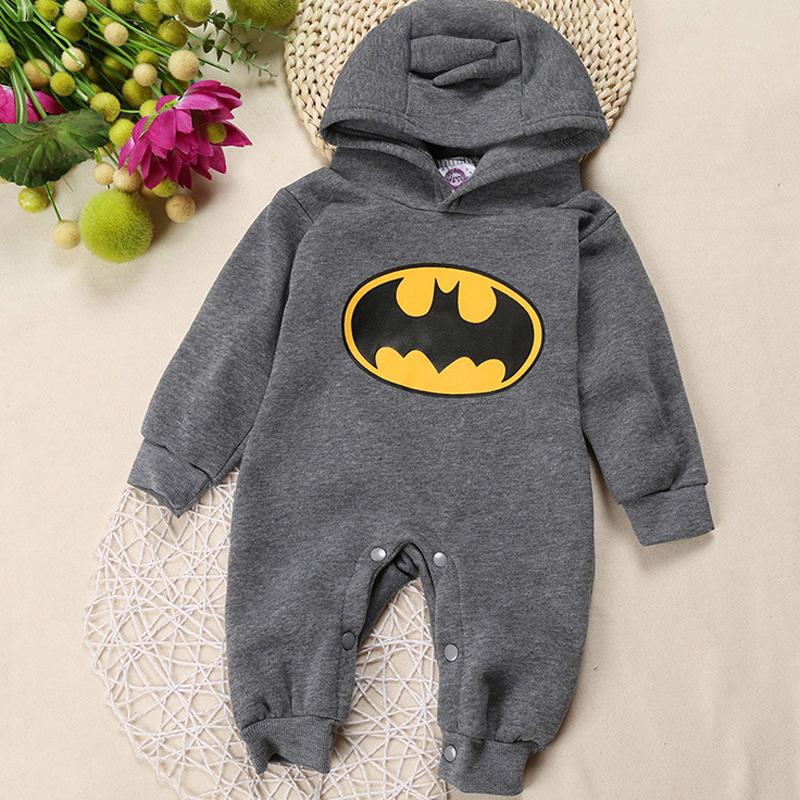 6e8816a4a Retail Child Batman fleece top overall newborn baby clothes boys clothing  romper Roupas de Bebe